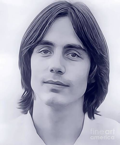 Wall Art - Digital Art - Jackson Browne, Music Legend by John Springfield