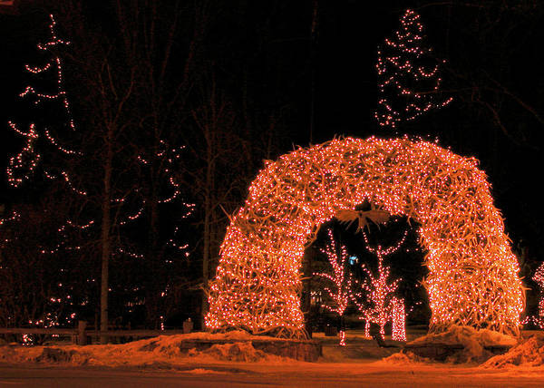 Photograph - Jackson Hole At Christmas, Jackson Wyoming by Michael Bessler
