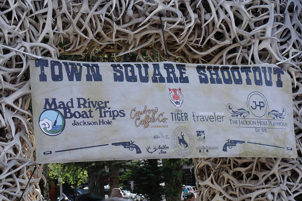 Wall Art - Photograph - Jackson Hole Town Square Shootout by Dan Sproul