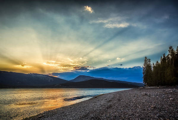 Photograph - Jackson Lake At Sunset by Rikk Flohr