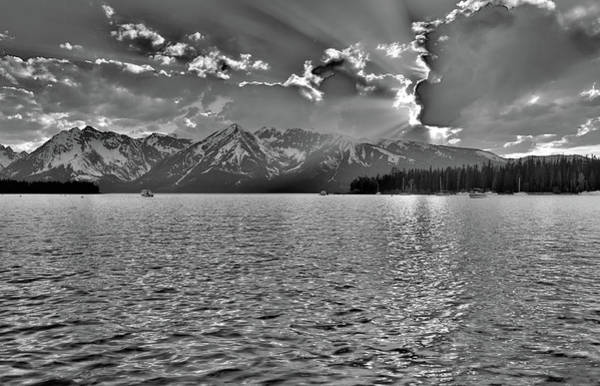 Photograph - Jackson Lake Black And White by Dan Sproul