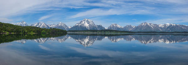 Photograph - Jackson Lake Panorama by Darren  White
