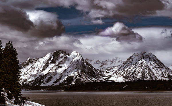 Jackson Lake Peaks Art Print