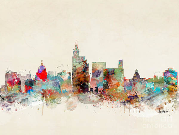 Wall Art - Painting - Jackson Mississippi by Bri Buckley