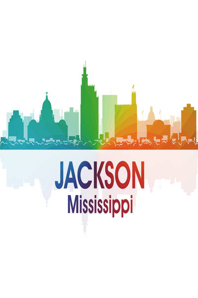 Digital Art - Jackson Ms 1 Vertical by Angelina Tamez