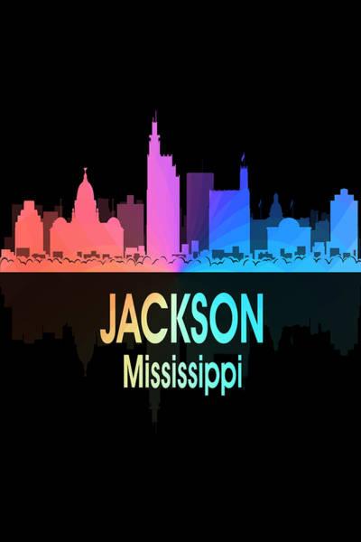 Digital Art - Jackson Ms 5 Vertical by Angelina Tamez