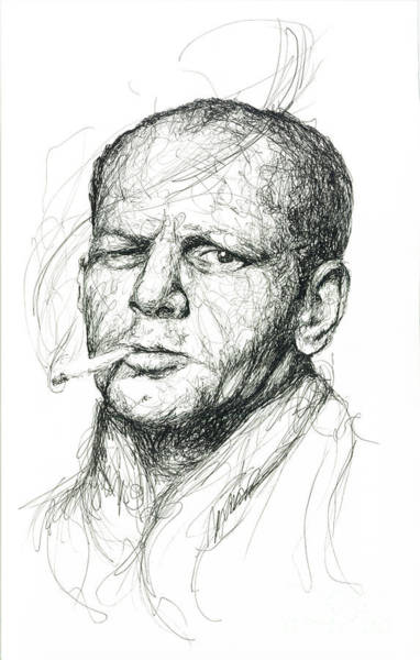 Artistic Drawing - Jackson Pollock by Michael Volpicelli