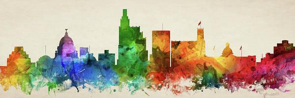 Wall Art - Digital Art - Jackson Skyline Panorama Usmsja-pa03 by Aged Pixel
