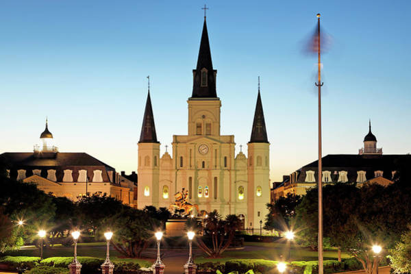 Photograph - Jackson Square And St Louis Cathedral by Nicholas Blackwell