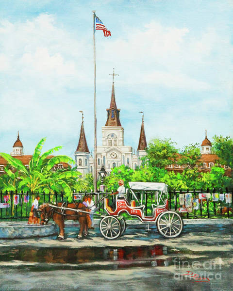 Wall Art - Painting - Jackson Square Carriage by Dianne Parks