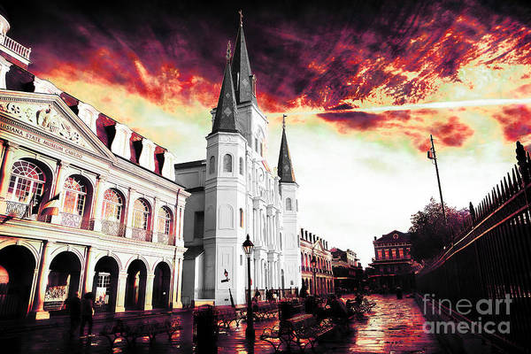 Wall Art - Photograph - Jackson Square Red Drama by John Rizzuto