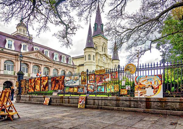 Cabildo Wall Art - Photograph - Jackson Square Winter 3 by Steve Harrington