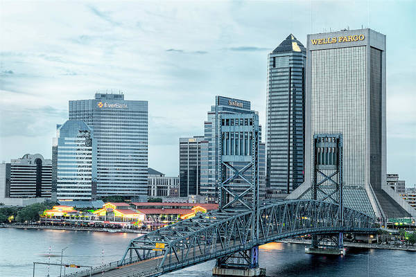 Photograph - Jacksonville Blue Hour by Kay Brewer