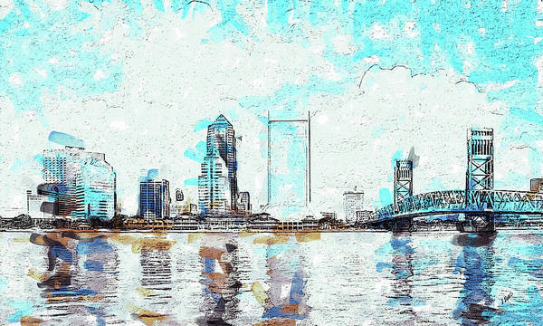 Drawing - Jacksonville - Dwp778042 by Dean Wittle