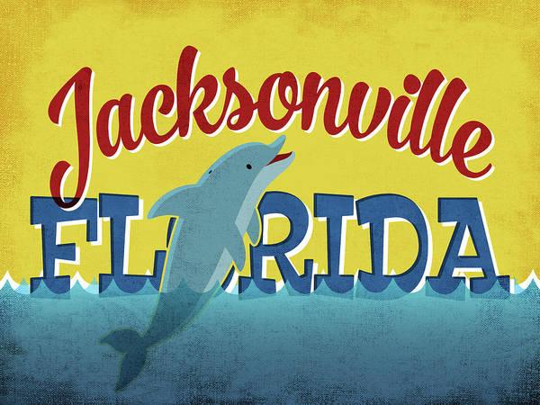 Advertisement Digital Art - Jacksonville Florida Dolphin by Flo Karp