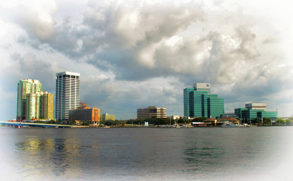 Photograph - Jacksonville Florida Skyline by Ola Allen