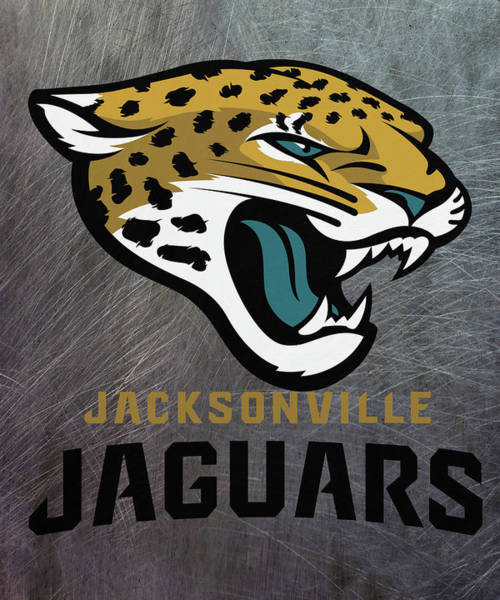 Mixed Media - Jacksonville Jaguars On An Abraded Steel Texture by Movie Poster Prints