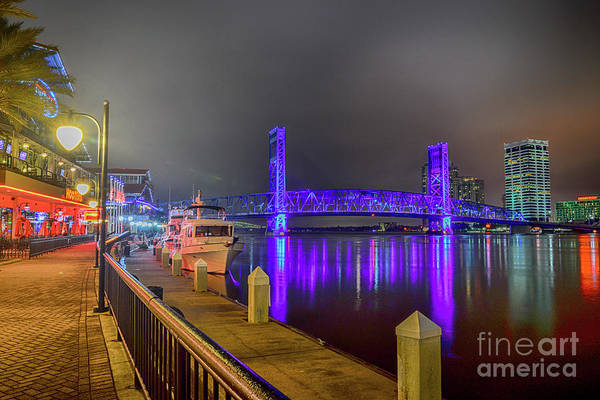 Photograph - Jacksonville Night River View by Paul Quinn