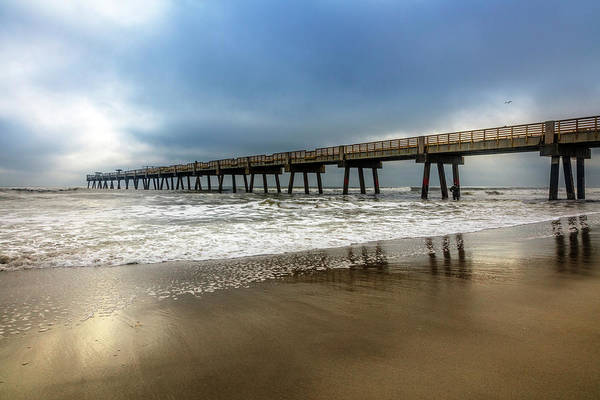 Wall Art - Photograph - Jacksonville Pier In The Fog At Dawn by Debra and Dave Vanderlaan