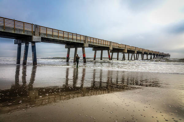 Photograph - Jacksonville Pier In The Fog At Sunrise   by Debra and Dave Vanderlaan