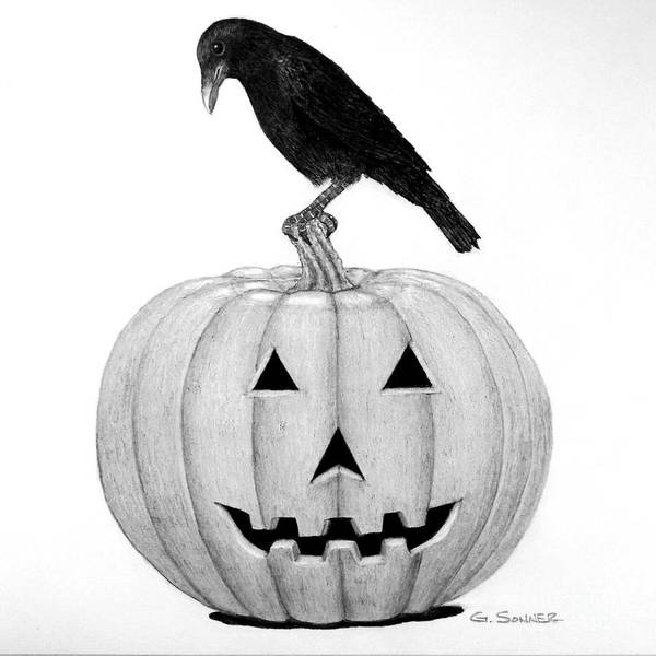 Trick Or Treat Drawing - Jacky by George Sonner