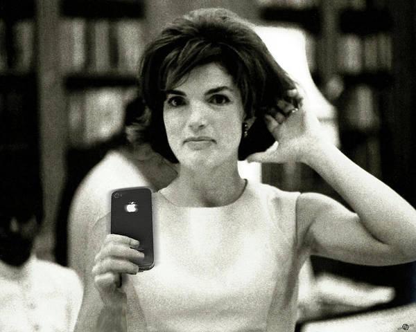 Photograph - Jacky Kennedy Takes A Selfie Small Version by Tony Rubino