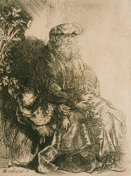 Relief - Jacob Caressing Benjamin by Rembrandt