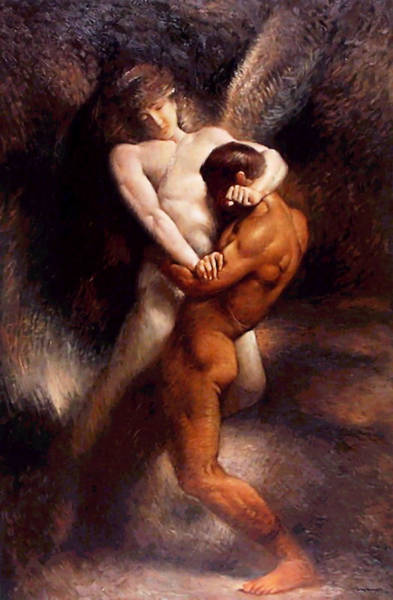 Painting - Jacob Earns His Name  by Leon Bonnat