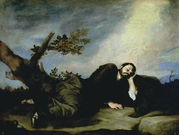 Stump Painting - Jacobs Dream by Jusepe de Ribera