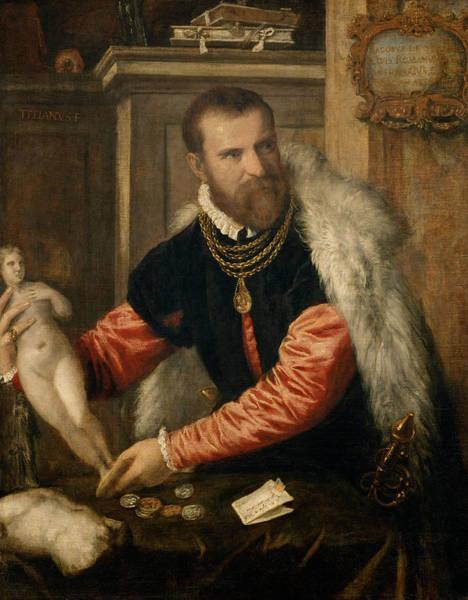 Italian Painters Wall Art - Painting - Jacopo Strada by Titian