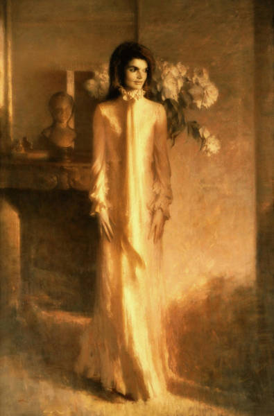 Wall Art - Painting - Jacqueline Lee Bouvier Kennedy by Aaron Shikler