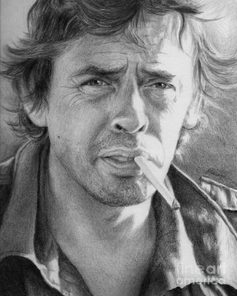 Chien Drawing - Jacques Brel by Christopher Panza