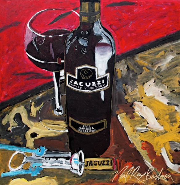 Painting - Jacuzzi Wine by Neal Barbosa