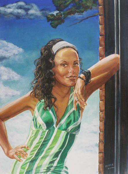 Roger Dean Wall Art - Painting - Jade Anderson by Bryan Bustard