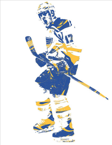 Wall Art - Mixed Media - Jaden Schwartz St Louis Blues Pixel Art 1 by Joe Hamilton