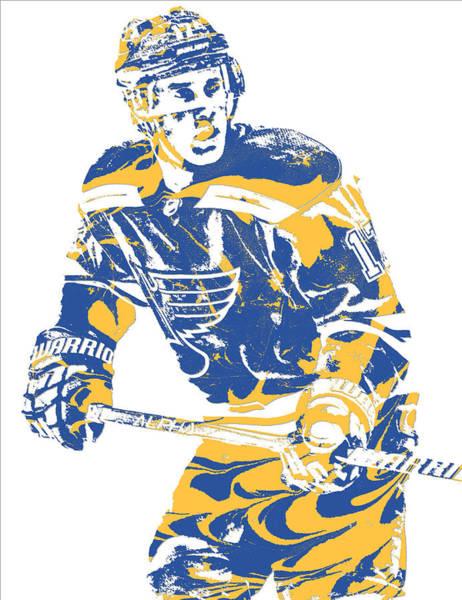 St Mixed Media - Jaden Schwartz St Louis Blues Pixel Art 2 by Joe Hamilton