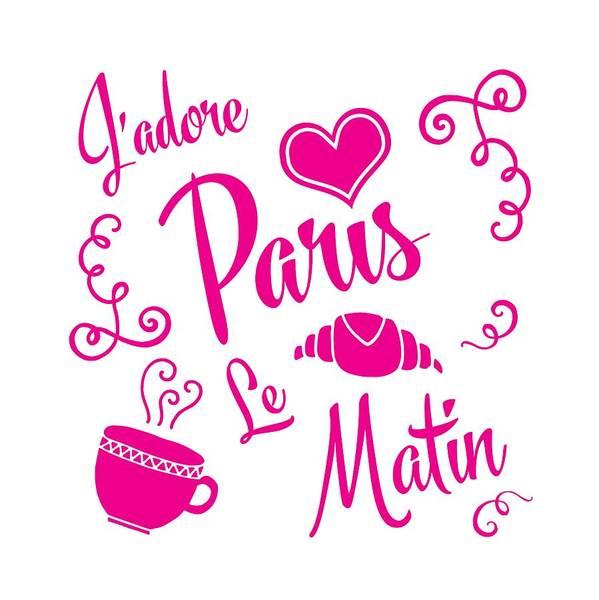 Wall Art - Digital Art - J'adore Paris Le Matin by Antique Images