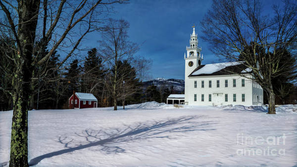 Photograph - Jaffrey Meeting House. Jaffrey, New Hampshire by New England Photography