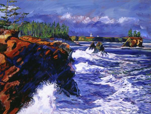 Painting - Jagged Coastline by David Lloyd Glover