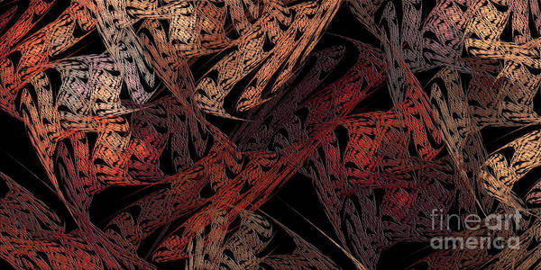Digital Art - Jagged Edges Panorama by Andee Design
