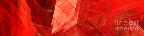 Digital Art - Jagged Edges Under Glass Abstract Pano by Andee Design