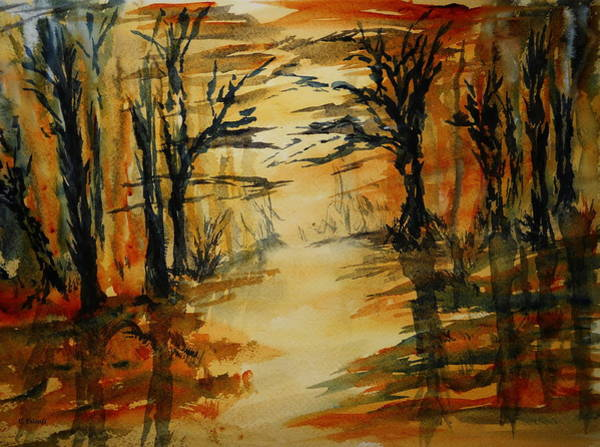 Painting - Jagged Little Trees by Carol Crisafi