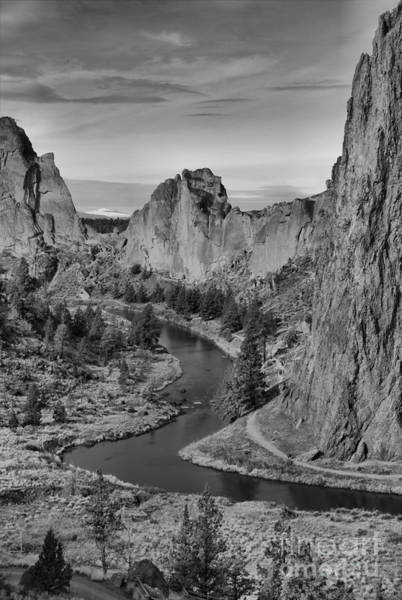 Photograph - Jagged Peaks And The Crooked River by Adam Jewell