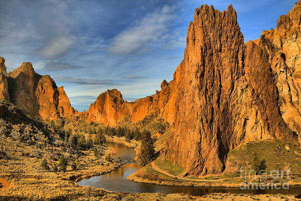 Redmond Photograph - Jagged Peaks Over The Crooked River by Adam Jewell