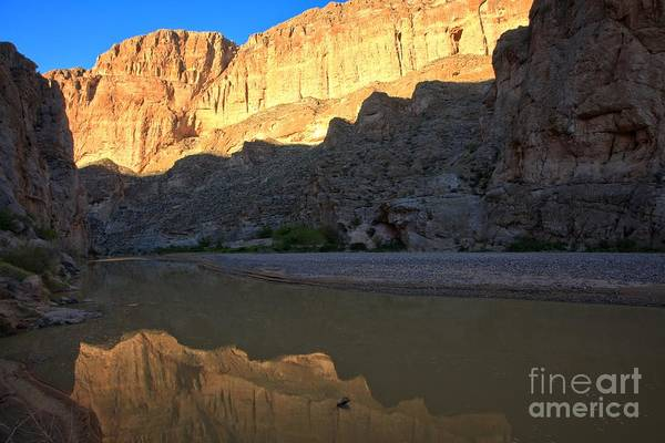 Photograph - Jagged Reflections At Boquillas Canyon by Adam Jewell