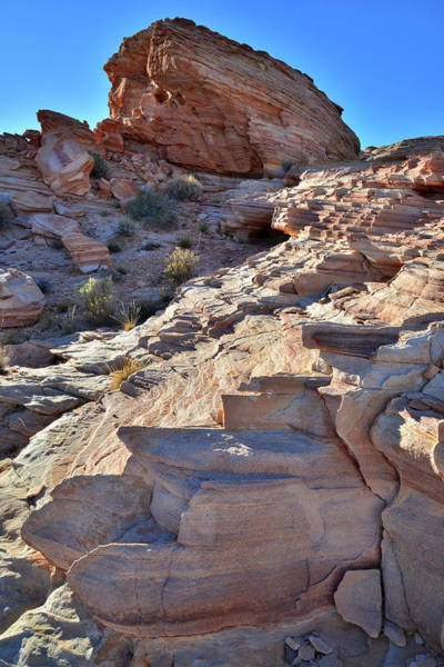 Photograph - Jagged Sandstone Steps In Valley Of Fire by Ray Mathis
