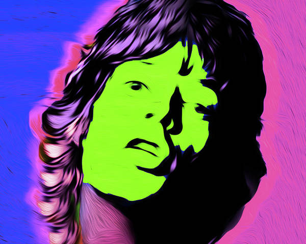 Frontman Wall Art - Painting - Jagger #12 Nixo by Never Say Never