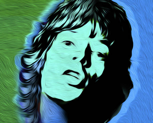 Frontman Wall Art - Painting - Jagger #77 Nixo by Never Say Never
