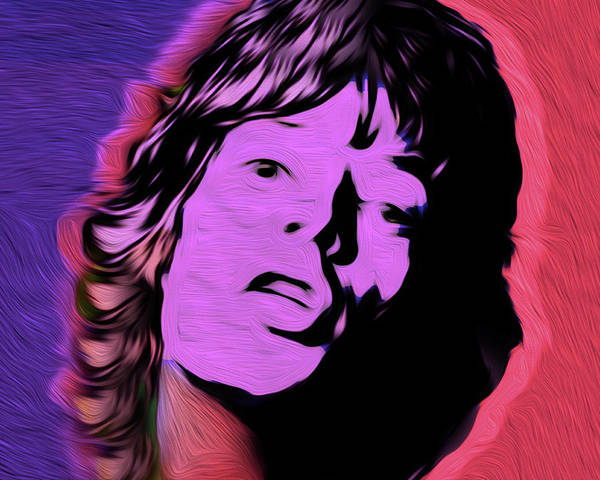 Frontman Wall Art - Painting - Jagger #89 Nixo by Never Say Never