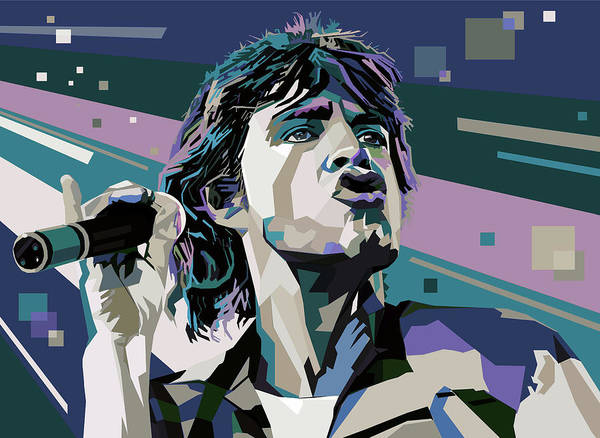 Wall Art - Digital Art - Jagger  by Mal Bray
